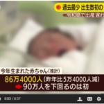 出生数90万人割れ