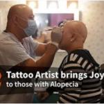 タトゥーアーティストが眉のアートメイク