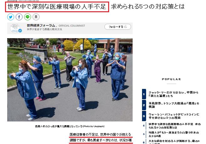 日本では2025年には250万人の看護師が必要
