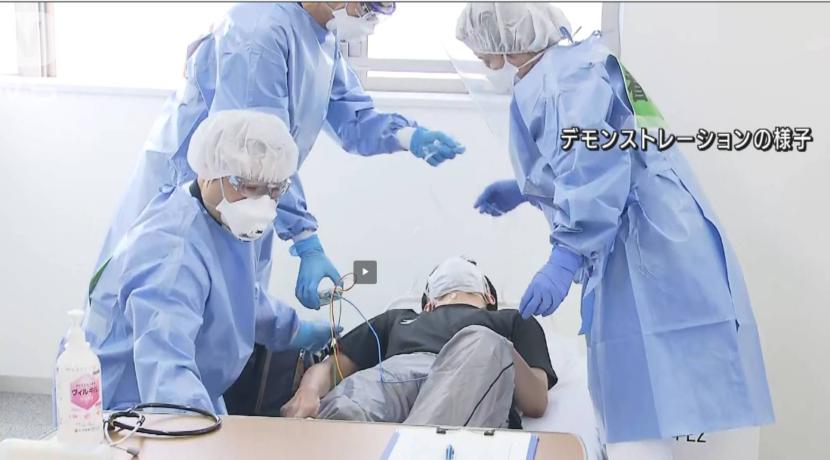 東京都 感染拡大止まらず 入院待ち患者用施設開設